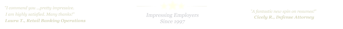 Flower Mound Resume Service... IMPRESSING EMPLOYERS SINCE 1997!